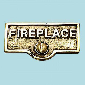 <PRE>Switch Plate Tags FIREPLACE Name Signs Labels Brass </PRE>zoom2