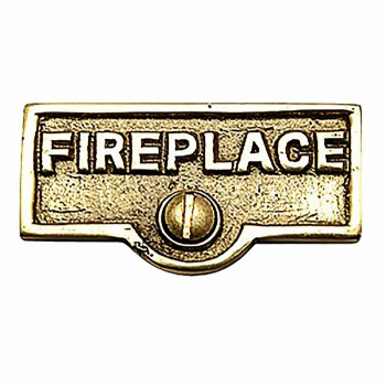 Switch Plate Tags FIREPLACE Name Signs Labels Brass 17716grid