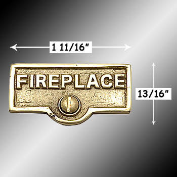 spec-<PRE>Switch Plate Tags FIREPLACE Name Signs Labels Brass </PRE>