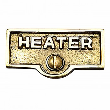 Switch Plate Tags HEATER Name Signs Labels Lacquered Brass