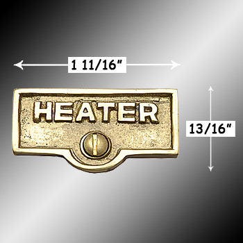 spec-<PRE>Switch Plate Tags HEATER Name Signs Labels Lacquered Brass </PRE>