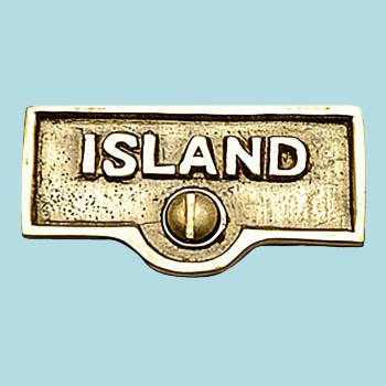 <PRE>Switch Plate Tags ISLAND Name Signs Labels Lacquered Brass </PRE>zoom2