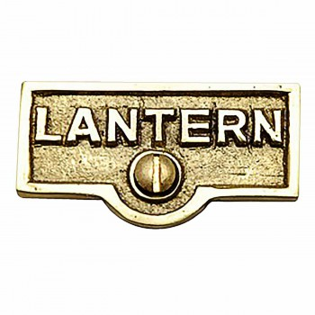 Switch Plate Tags LANTERN Name Signs Labels Lacquered Brass 17721grid