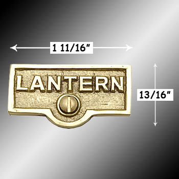 spec-<PRE>Switch Plate Tags LANTERN Name Signs Labels Lacquered Brass </PRE>