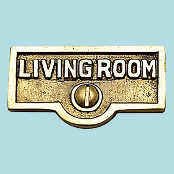 <PRE>Switch Plate Tags LIVING ROOM Name Signs Labels  Brass </PRE>zoom2