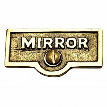 Switch Plate Tags MIRROR Name Signs Labels Lacquered Brass 17724grid