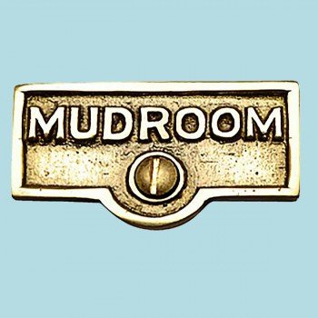 <PRE>Switch Plate Tags MUDROOM Name Signs Labels Lacquered Brass </PRE>zoom2