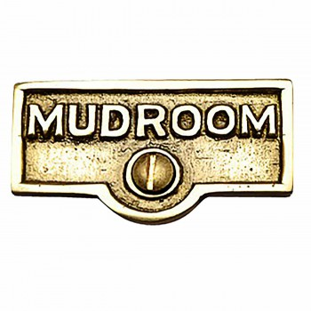 Switch Plate Tags MUDROOM Name Signs Labels Lacquered Brass Switch Plate Labels Switch Plate ID Labels Switch Plate Label