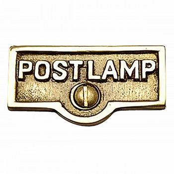 Switch Plate Tags POST LAMP Name Signs Labels Brass 17727grid