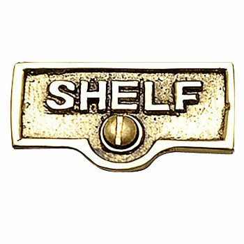 <PRE>Switch Plate Tags SHELF Name Signs Labels Lacquered Brass </PRE>zoom1