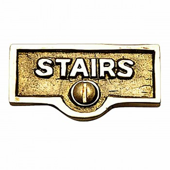 Switch Plate Tags STAIRS Name Signs Labels Lacquered Brass 17731grid