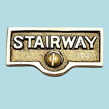 Switch Plate Tags STAIRWAY Name Signs Label Lacquered Brass Switch Plate Labels Switch Plate ID Labels Switch Plate Label