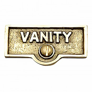 <PRE>Switch Plate Tags VANITY Name Signs Labels Lacquered Brass </PRE>zoom1