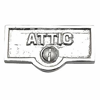 Switch Plate Tags ATTIC Name Signs Labels Chrome Brass 17735grid