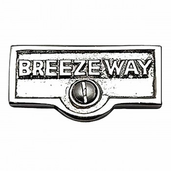 <PRE>Switch Plate Tags BREEZEWAY Name Signs Labels Chrome Brass </PRE>zoom1