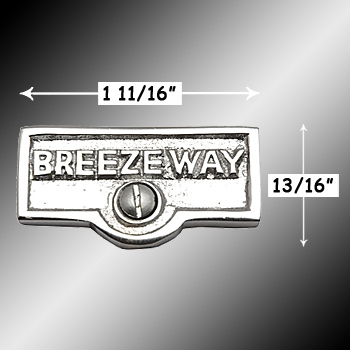 spec-<PRE>Switch Plate Tags BREEZEWAY Name Signs Labels Chrome Brass </PRE>