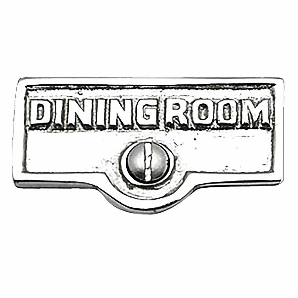 Switch Plate Tags DINING ROOM Name Signs Label Chrome Brass