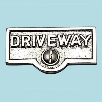 Switch Plate Tags DRIVEWAY Name Signs Labels Chrome Brass Switch Plate Labels Switch Plate ID Labels Switch Plate Label