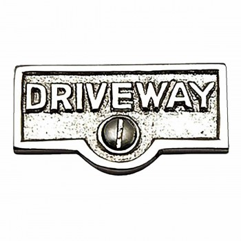 Switch Plate Tags DRIVEWAY Name Signs Labels Chrome Brass 17742grid