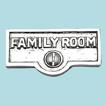 Switch Plate Tags FAMILY ROOM Name Signs Label Chrome Brass Switch Plate Labels Switch Plate ID Labels Switch Plate Label