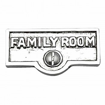 Switch Plate Tags FAMILY ROOM Name Signs Label Chrome Brass 17746grid
