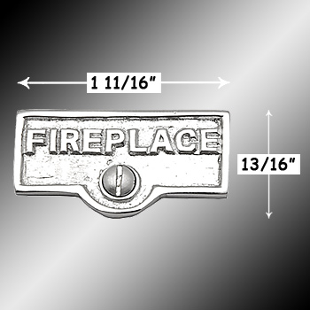 spec-<PRE>Switch Plate Tags FIREPLACE Name Signs Labels Chrome Brass </PRE>