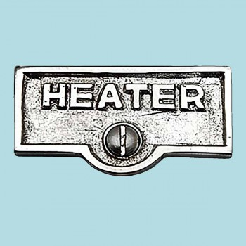 <PRE>Switch Plate Tags HEATER Name Signs Labels Chrome Brass </PRE>zoom2