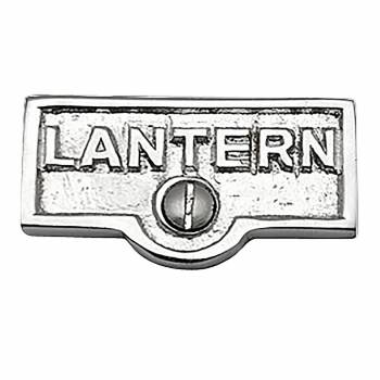 Switch Plate Tags LANTERN Name Signs Labels Chrome Brass 17752grid