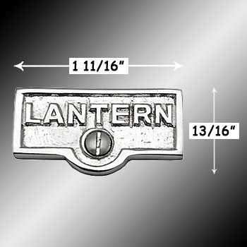 spec-<PRE>Switch Plate Tags LANTERN Name Signs Labels Chrome Brass </PRE>