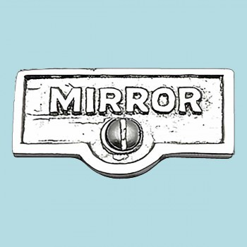 <PRE>Switch Plate Tags MIRROR Name Signs Labels Chrome Brass </PRE>