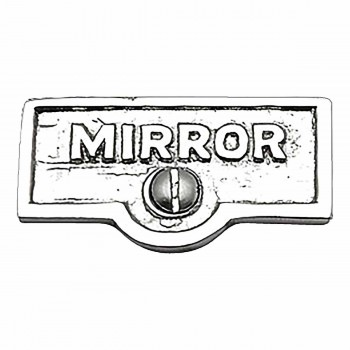 Switch Plate Tags MIRROR Name Signs Labels Chrome Brass 17755grid