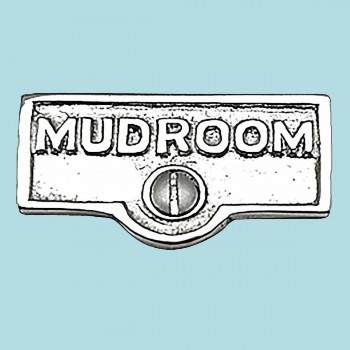 <PRE>Switch Plate Tags MUDROOM Name Signs Labels Chrome Brass </PRE>zoom2