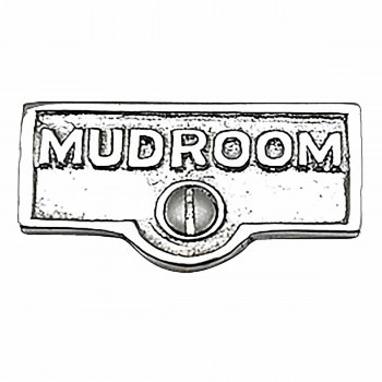 Switch Plate Tags MUDROOM Name Signs Labels Chrome Brass 17756grid