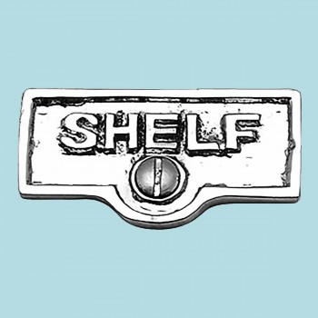 Switch Plate Tags SHELF Name Signs Labels Chrome Brass Switch Plate Labels Switch Plate ID Labels Switch Plate Label