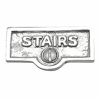 <PRE>Switch Plate Tags STAIRS Name Signs Labels Chrome Brass </PRE>zoom1