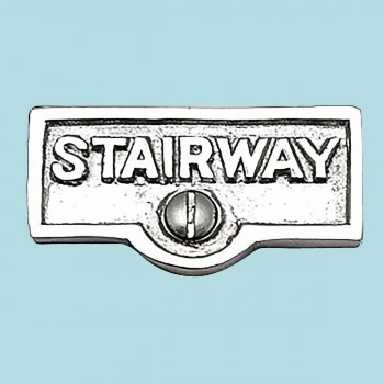 <PRE>Switch Plate Tags STAIRWAY Name Signs Labels Chrome Brass </PRE>zoom2