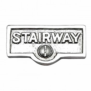 Switch Plate Tags STAIRWAY Name Signs Labels Chrome Brass