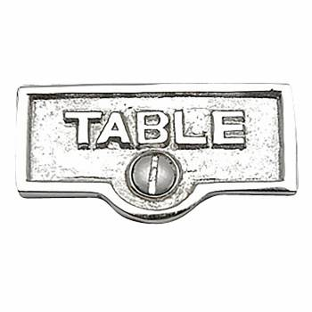 <PRE>Switch Plate Tags TABLE Name Signs Labels Chrome Brass </PRE>zoom1