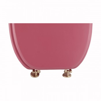 <PRE>Hard Wood Pink Toilet Seat Elongated Gold Solid Brass Hinge </PRE>zoom5