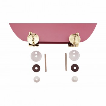 <PRE>Hard Wood Pink Toilet Seat Elongated Gold Solid Brass Hinge </PRE>zoom7