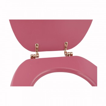 <PRE>Hard Wood Pink Toilet Seat Elongated Gold Solid Brass Hinge </PRE>zoom9