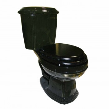 spec-<PRE>Black Elegant Dual Flush Two-Piece Round Front Toilet</PRE>