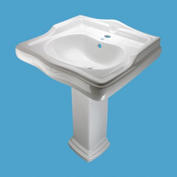 <PRE>China Pedestal Sink White Grade A Vitreous Scratch Resistant with Overflow Hole</PRE>
