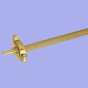 <PRE>Carpet Rod Set 13 Brass RSF Reed Tubing Tower Finial </PRE>zoom2