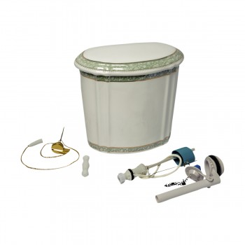 <PRE>Part White/Green Vitreous China Toilet TANK ONLY L-pipe Sage Gr. & Gol</PRE>zoom3