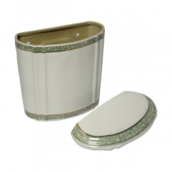 <PRE>Part White/Green Vitreous China Toilet TANK ONLY L-pipe Sage Gr. & Gol</PRE>zoom4