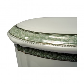 <PRE>Part White/Green Vitreous China Toilet TANK ONLY L-pipe Sage Gr. & Gol</PRE>zoom7