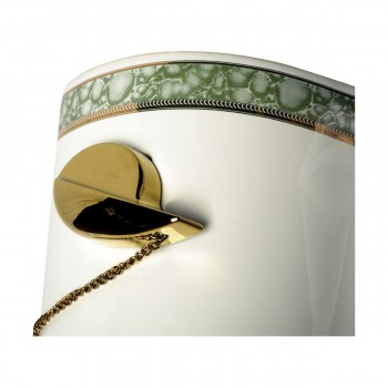 <PRE>Part White/Green Vitreous China Toilet TANK ONLY L-pipe Sage Gr. & Gol</PRE>zoom8