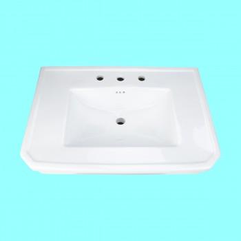 Bathroom Pedestal Sink Basin White Porcelain Victoria Widespread Widespread Pedestal Sink Modern Bathroom Pedestal Sink Classic Bathroom Sinks