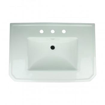 <PRE>Bathroom Pedestal Sink Basin White China Victoria Widespread</PRE>zoom4